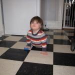 E scrub floor